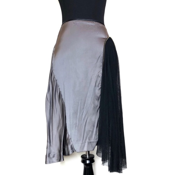 McQ by Alexander McQueen Dresses & Skirts - McQ by Alexander McQueen Pewter Asymmetrical Skirt